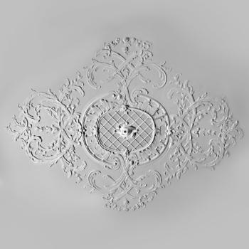 Лепная потолочная розетка Барокко Северная Венеция 01